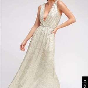 Lulus All That Shimmer is Gold Maxi